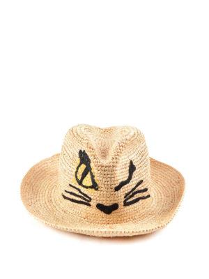 Ermanno Scervino: hats & caps - Snout embroidery raphia hat