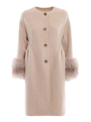 ERMANNO SCERVINO: cappotti al ginocchio - Cappotto girocollo ampio con polsi in volpe