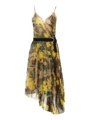ERMANNO SCERVINO: knee length dresses - Lace detail camouflage dress