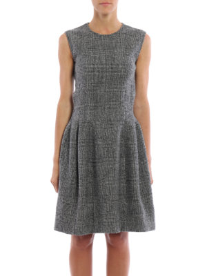 Ermanno Scervino: knee length dresses online - Prince of Wales pure wool dress