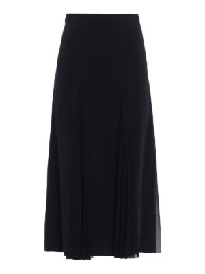 Ermanno Scervino: Knee length skirts & Midi - Crepe skirt with pleated panels
