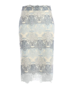 Ermanno Scervino: Knee length skirts & Midi - Lace pencil skirt