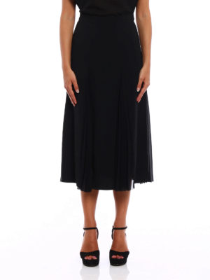 Ermanno Scervino: Knee length skirts & Midi online - Crepe skirt with pleated panels