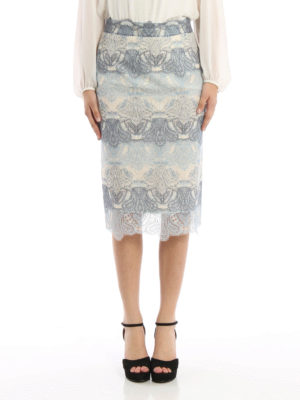Ermanno Scervino: Knee length skirts & Midi online - Lace pencil skirt