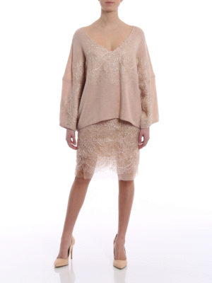 Ermanno Scervino: Knee length skirts & Midi online - Tulle and lace pencil skirt