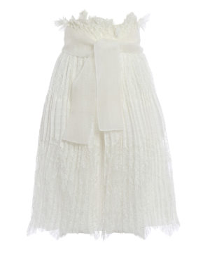 Ermanno Scervino: Knee length skirts & Midi - See-through lace pleated skirt