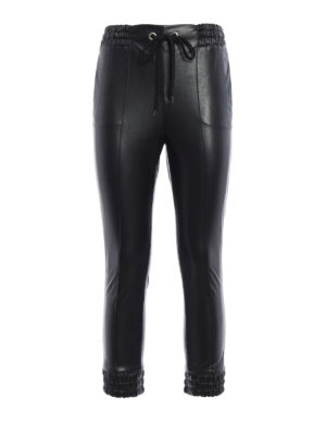 Ermanno Scervino: leather trousers - Cropped faux leather trousers