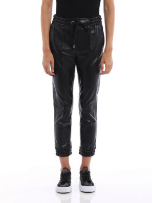 Ermanno Scervino: leather trousers online - Cropped faux leather trousers