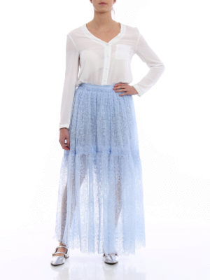 Ermanno Scervino: Long skirts online - Ballet lace and tulle long skirt