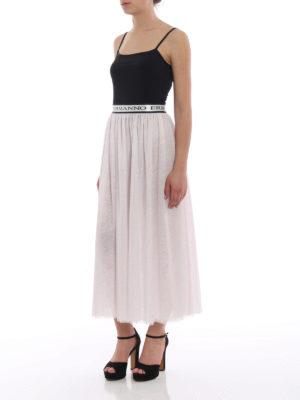 Ermanno Scervino: Long skirts online - Glitter tulle tiered skirt
