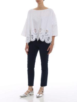 ERMANNO SCERVINO: bluse online - Blusa boxy in cotone e pizzo