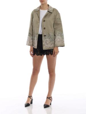 ERMANNO SCERVINO: giacche casual online - Giacca in cotone e lino con pizzo
