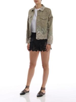 ERMANNO SCERVINO: giacche casual online - Giacca in misto lino con pizzo