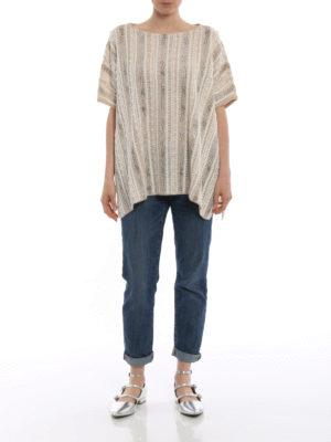 ERMANNO SCERVINO: maglia collo rotondo online - Pull beige in cashmere ricamato