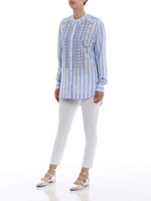 ERMANNO SCERVINO: camicie online - Camicia a righe con ricami