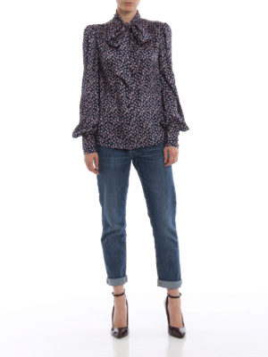 ERMANNO SCERVINO: camicie online - Camicia in twill fantasia con sciarpina