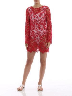 ERMANNO SCERVINO: tuniche online - Tunica in macramè rosso