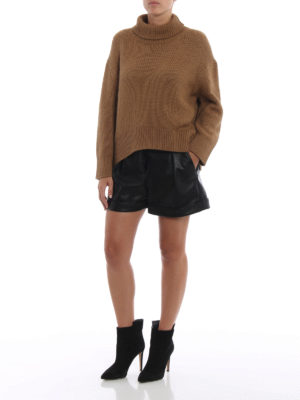ERMANNO SCERVINO: maglia a collo alto e polo online - Dolcevita oversize color cammello
