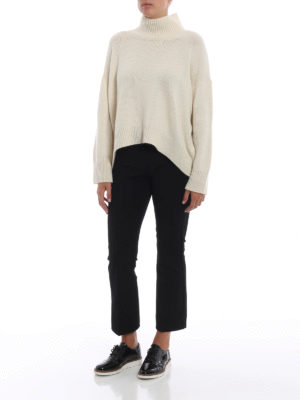 ERMANNO SCERVINO: maglia a collo alto e polo online - Maglione oversize in cashmere bianco