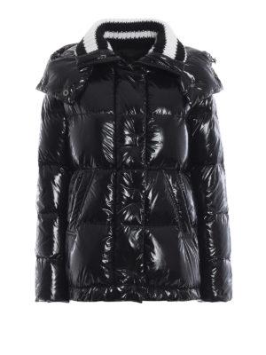 ERMANNO SCERVINO: giacche imbottite - Piumino nero lucido con cappuccio staccabile