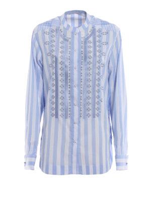 ERMANNO SCERVINO: camicie - Camicia a righe con ricami
