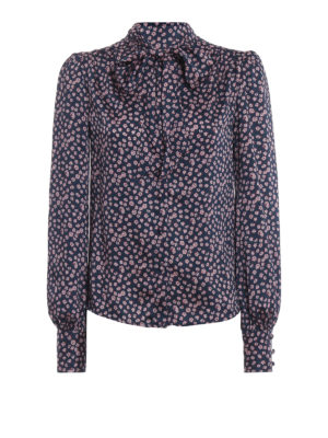 ERMANNO SCERVINO: camicie - Camicia in twill fantasia con sciarpina
