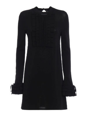Ermanno Scervino: short dresses - Knitted viscose dress with pleating