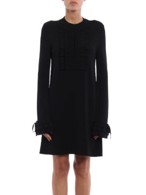 Ermanno Scervino: short dresses online - Knitted viscose dress with pleating