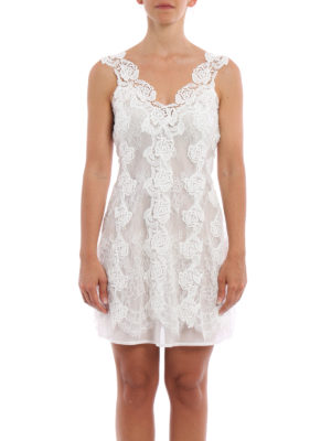 Ermanno Scervino: short dresses online - Lace and tulle sleeveless dress