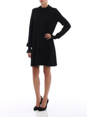 Ermanno Scervino: short dresses online - Ruched knitted wool dress