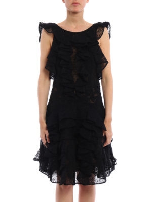 Ermanno Scervino: short dresses online - Ruffled silk short dress