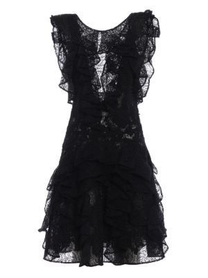 Ermanno Scervino: short dresses - Ruffled silk short dress