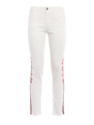 Ermanno Scervino: skinny jeans - Embellished white crop jeans
