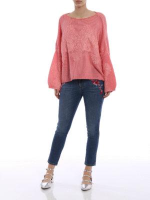 Ermanno Scervino: skinny jeans online - Embellished slim fit crop jeans
