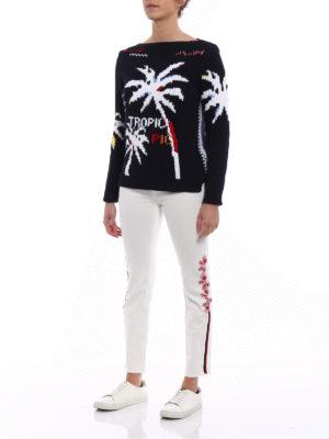 Ermanno Scervino: skinny jeans online - Embellished white crop jeans