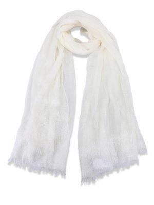 Ermanno Scervino: Stoles & Shawls - Lace trim wool and cashmere stole