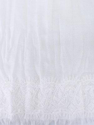 Ermanno Scervino: Stoles & Shawls online - Lace trim wool and cashmere stole