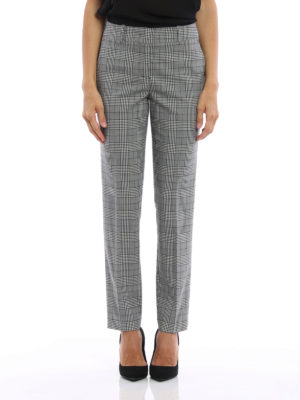 Ermanno Scervino: Tailored & Formal trousers online - Prince of Wales cigarette trousers