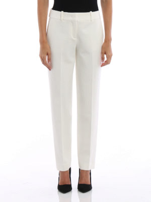 Ermanno Scervino: Tailored & Formal trousers online - Stretch wool blend formal trousers