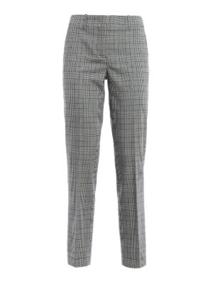Ermanno Scervino: Tailored & Formal trousers - Prince of Wales cigarette trousers