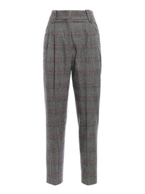 Ermanno Scervino: Tailored & Formal trousers - Prince of Wales wool trousers