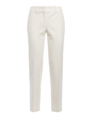 Ermanno Scervino: Tailored & Formal trousers - Stretch wool blend formal trousers