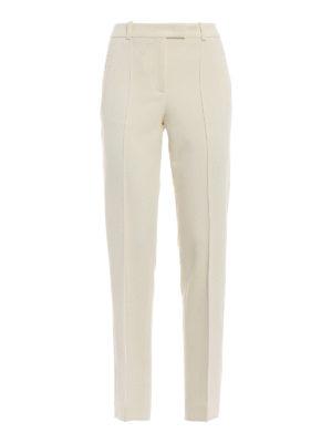 ERMANNO SCERVINO: Pantaloni sartoriali - Pantaloni eleganti a sigaretta in crepe
