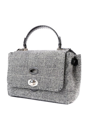 Ermanno Scervino: totes bags online - Bicolour boucle virgin wool tote