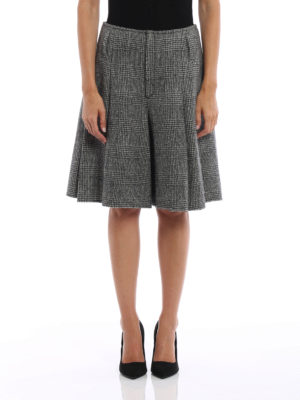 Ermanno Scervino: Trousers Shorts online - Prince of Wales skirt style shorts