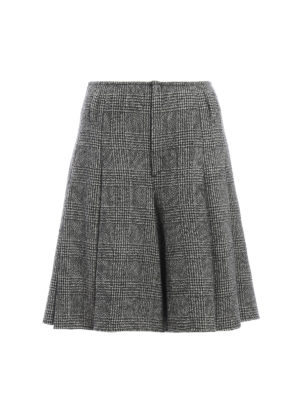 Ermanno Scervino: Trousers Shorts - Prince of Wales skirt style shorts