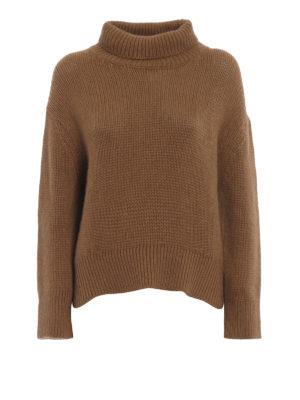 ERMANNO SCERVINO: maglia a collo alto e polo - Dolcevita oversize color cammello