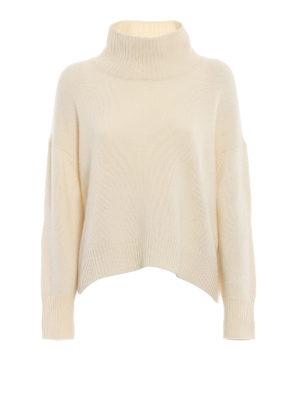 ERMANNO SCERVINO: maglia a collo alto e polo - Maglione oversize in cashmere bianco