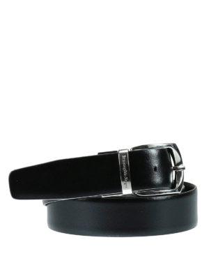 Ermenegildo Zegna: belts online - Leather reversible belt