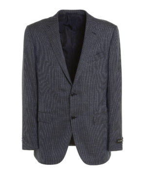 Ermenegildo Zegna: blazers - Micro patterned structured blazer
